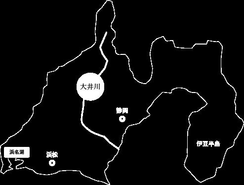 大井川の場所