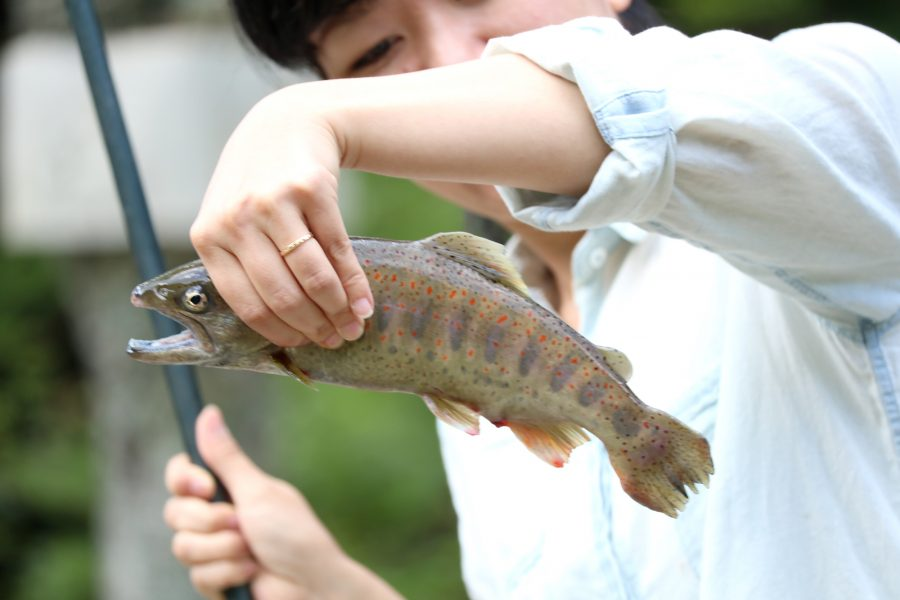 釣り初心者にもおすすめ!大自然の中でヤマメ釣り体験♪