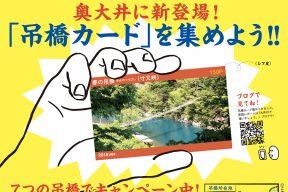 川根本町で吊橋めぐり。特製『吊橋カード』を集めよう!もくじ編