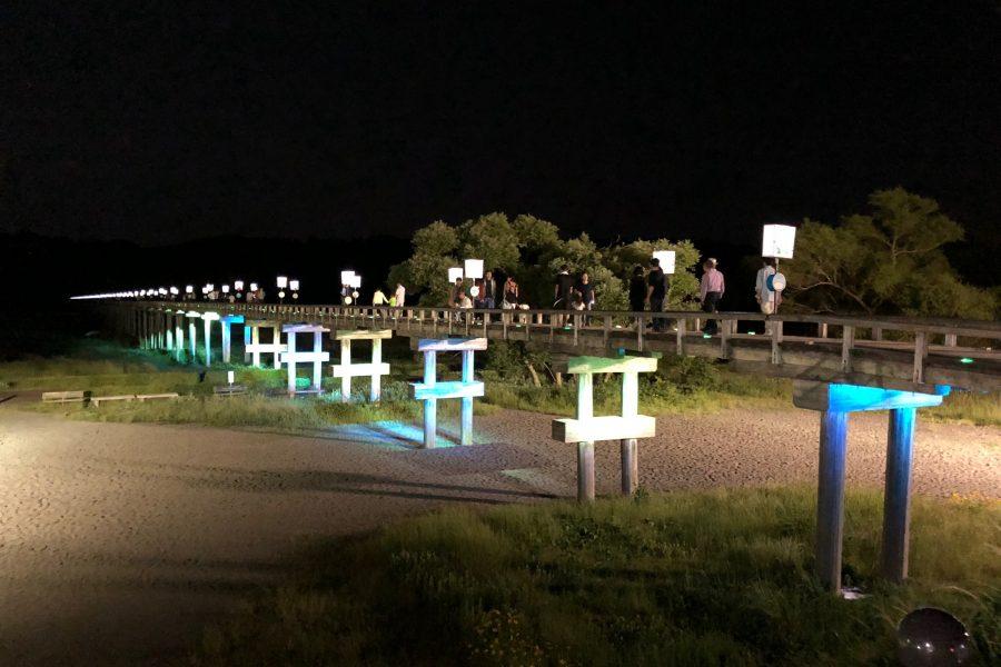 897.4茶屋完成記念 蓬萊橋観月会