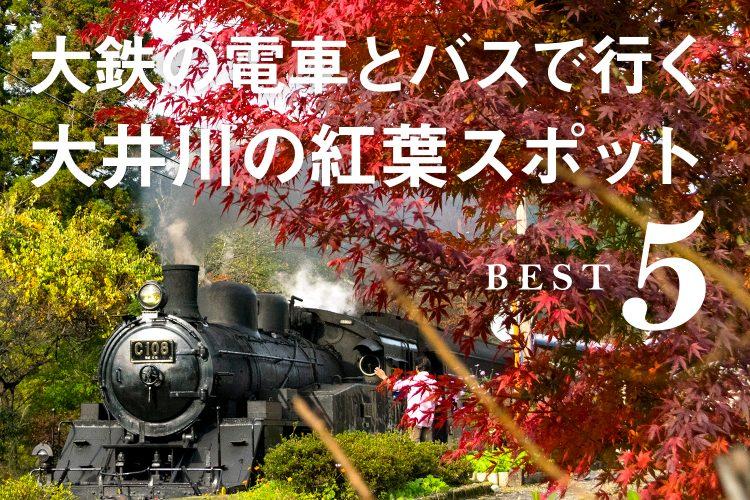 大井川の紅葉スポットBest5。行きたくなる、撮りたくなる、映えスポットを紹介! >>>