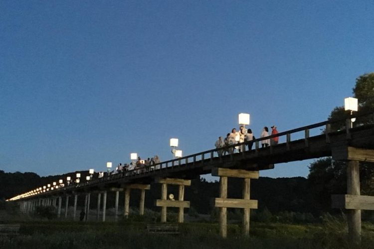 蓬萊橋ぼんぼり祭り2019