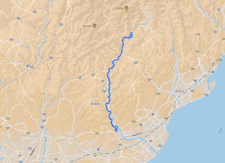 大井川マップ